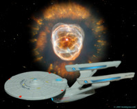 Enterprise A near the Eskimo nebula. 