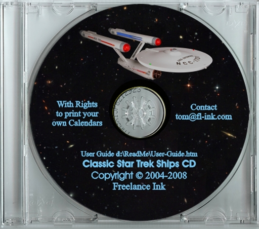 High Resolutioon Star Trek picture CD. Click to Enlarge.